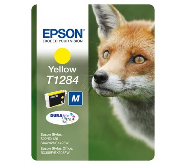Cartus original inkjet Epson T1284 , yellow, pt S22/SX125