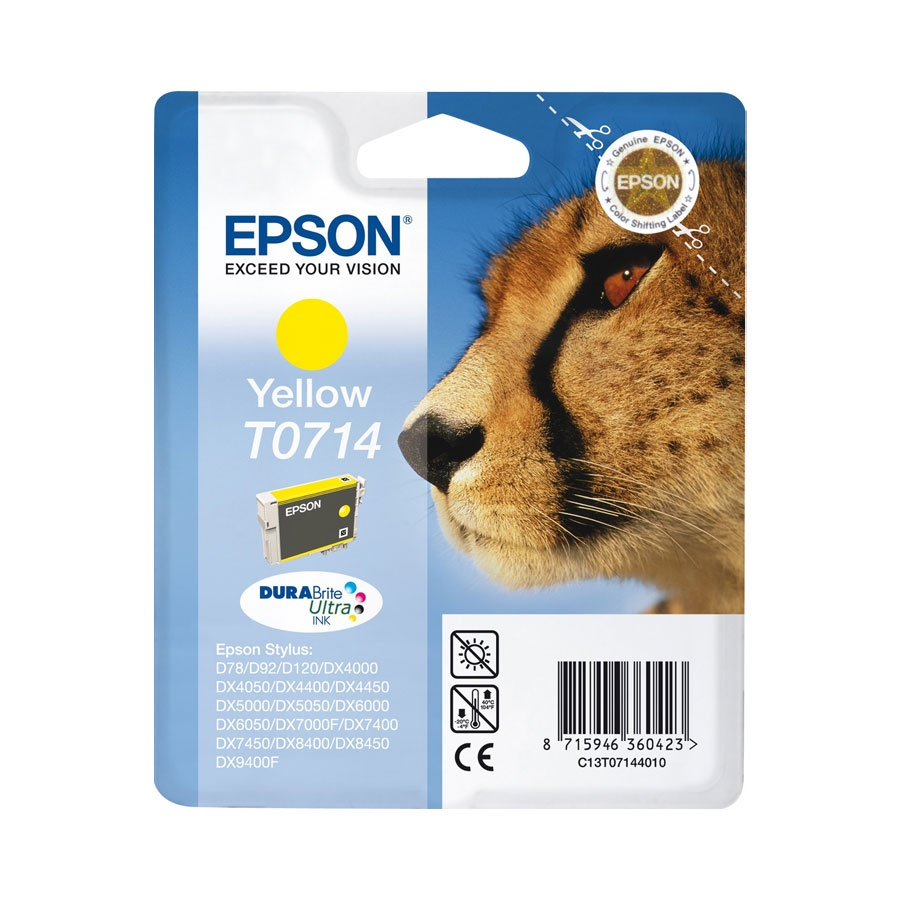 Cartus original inkjet Epson T0714 , Yellow, pt SDX4400