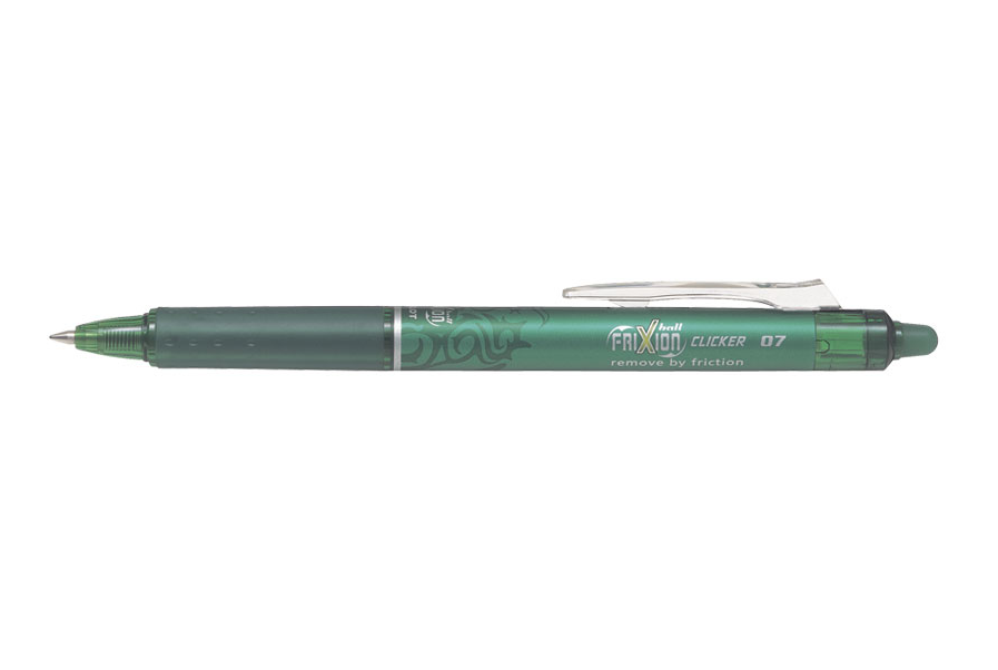 Pix gel cu guma Frixion, retractabil 0.7 mm, verde Pilot