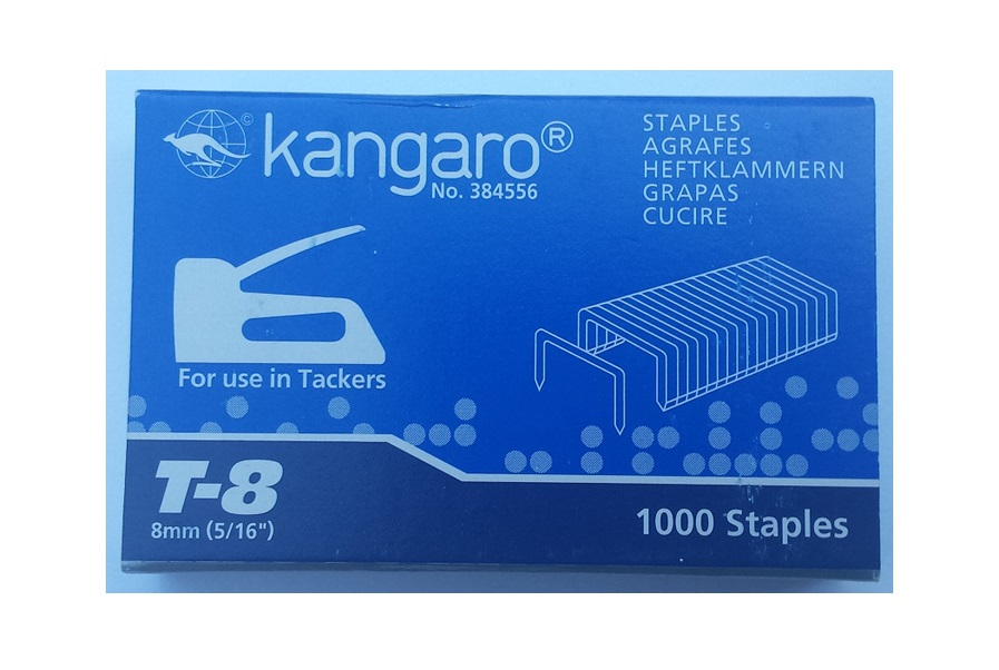 Capse tip tacker, 1000 buc/cut, nr.6, Kangaro, compatibile tacker TP8