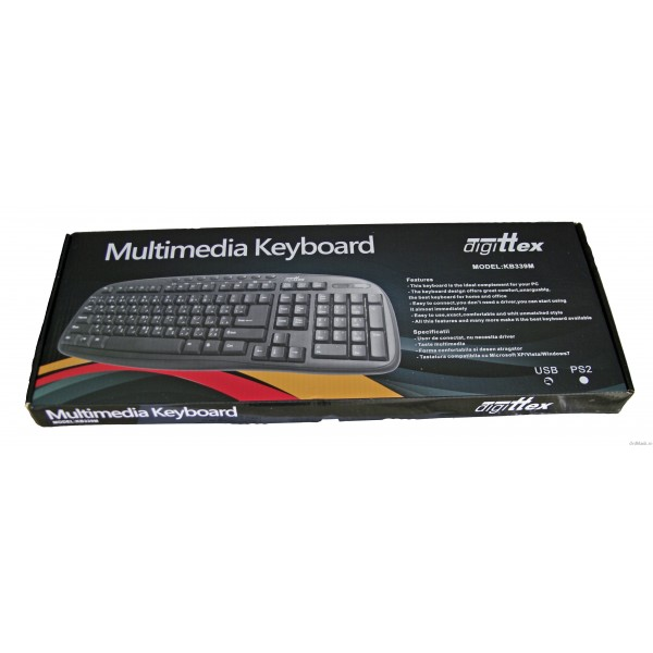Tastatura Digittex KB339, USB, multimedia