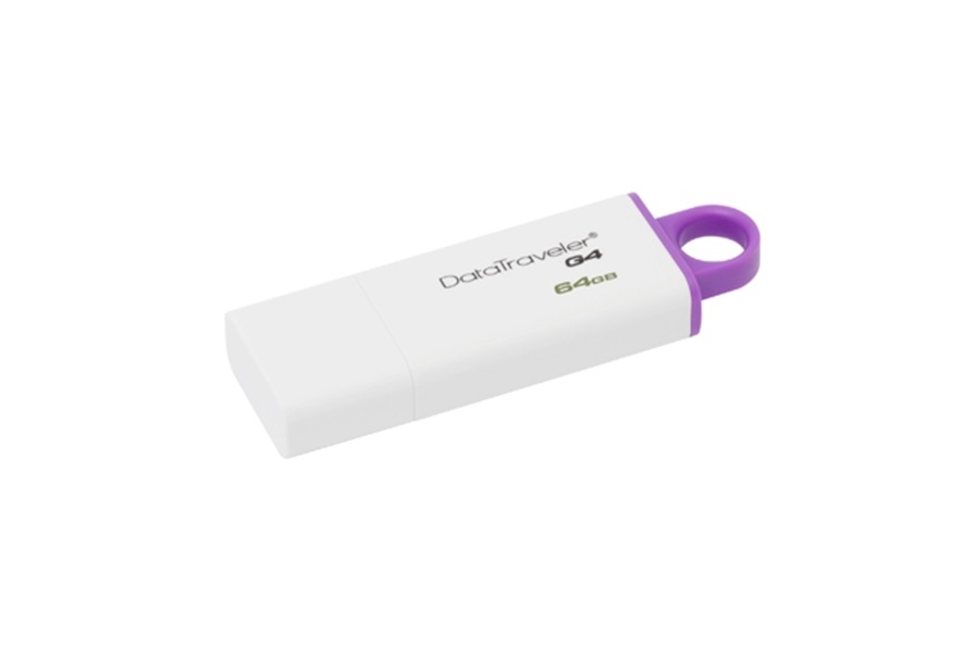 USB stick Kingston 64GB 3.0 DTIG4/64GB , plastic, alb cu mov, Data Traveler