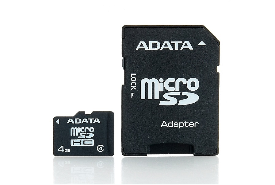 Micro SD A-Data  4GB class4 AUSDH4GCL4-RA1 , cu adaptor SD