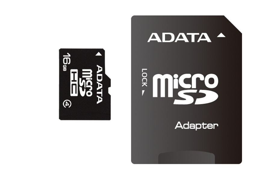 Micro SD A-Data 16GB class4 AUSDH16GCL4-RA1 , cu adaptor SD