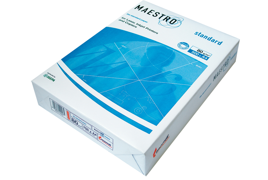 Hartie copiator A4, Maestro Standard, 80 gr/mp, 500 coli/top