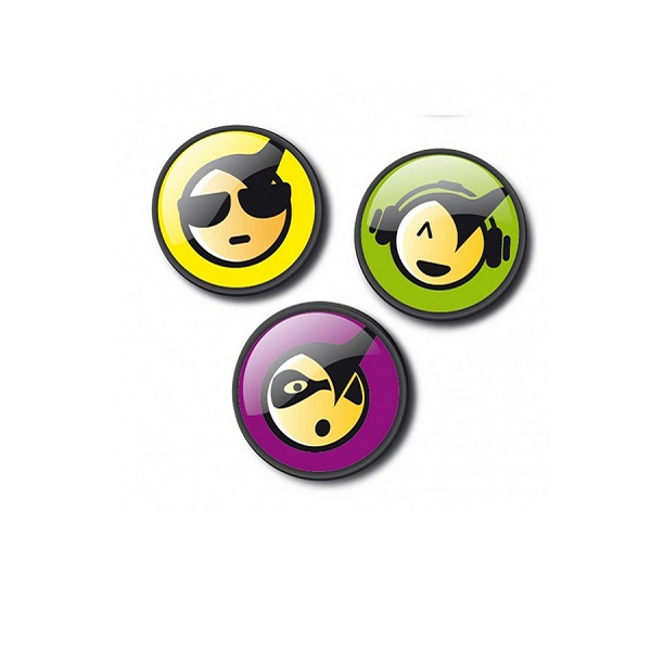 Insigne Roller Nikidom, 3 bucati/set, design Emoticonos Cool ND-9110