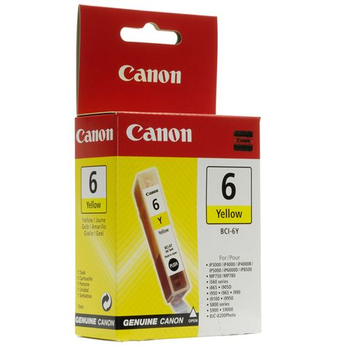 Cartus Canon BCI6Y, yellow