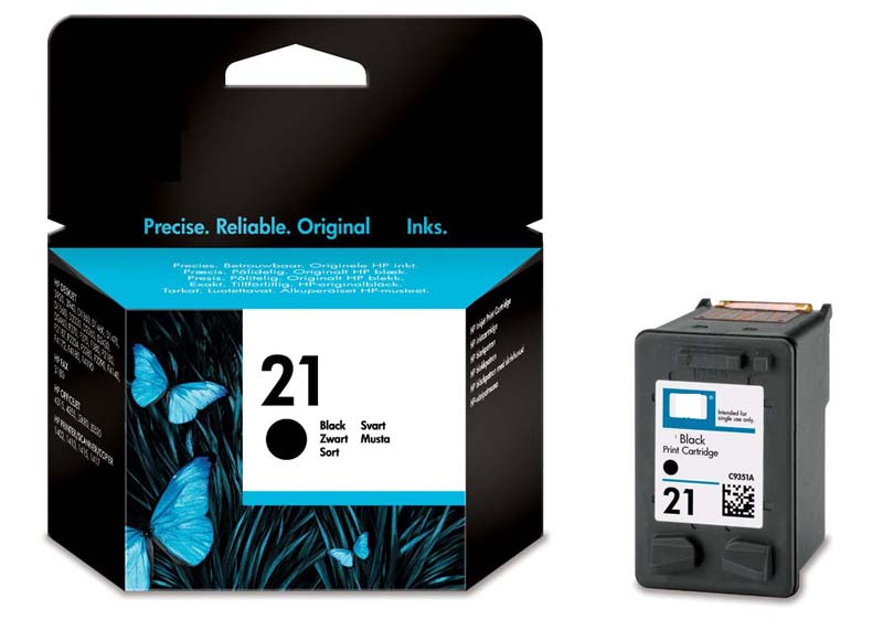 Cartus original inkjet HP C9351AE, nr.21 negru, 5ml